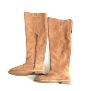 UGG SIZE 6.5 CHESTNUT LOMA OVER THE KNEE BOOTS